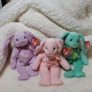 Three Classic Beanie Babies with Errors